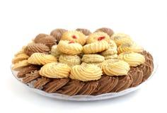 Galletas y galletas deliciosas en la profundidad del foco baja Foto de archivo libre de regalías
