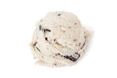 Galletas y helado poner crema Foto de archivo libre de regalías