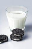 Galletas y leche Imagen de archivo