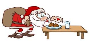 Galletas y leche para Santa stock de ilustración