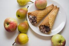 Galletas y peras vienesas Imagen de archivo libre de regalías