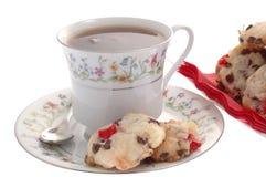 Galletas y té Foto de archivo libre de regalías