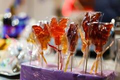Galletti di Candy da vendere Fotografia Stock