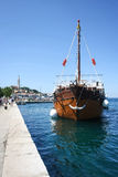 Galley anchored at dock in Rovinj Royalty Free Stock Image