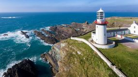 Free Galley Head Lighthouse. County Cork. Ireland Royalty Free Stock Image - 136105216