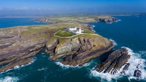 Galley head lighthouse. county Cork. Ireland stock images