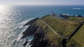Galley head lighthouse. county Cork. Ireland stock photo