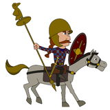 Gallic warrior cartoon Royalty Free Stock Photo
