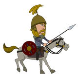Gallic warrior cartoon Stock Photo