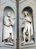 Gallileo Galilei and Pier Antonio Micheli Statues, Ufizzi Gallery, Florence, Italy Stock Image