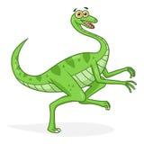 Gallim динозавра шаржа Стоковая Фотография