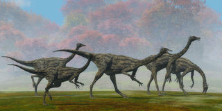 Gallimimus Dinosaur Fall Day Stock Image