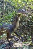 Gallimimus dinosaur. Sculpture in live size. Dinopark in Krasnodar, Russia Stock Image