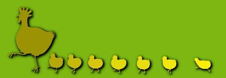 Gallina con los pollos Imágenes de archivo libres de regalías