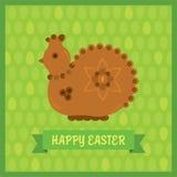 Gallina di Pasqua fatta del pan di zenzero Fotografie Stock