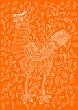 Gallina disegnata a mano Fotografia Stock Libera da Diritti