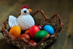 Gallina ed uova Immagini Stock Libere da Diritti