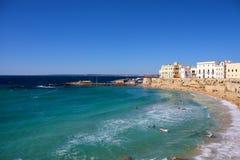 Gallipoli海滩(Salento,意大利) 免版税库存照片
