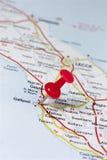 Gallipoli Ιταλία σε έναν χάρτη Στοκ Φωτογραφία