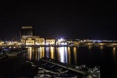 Gallipoli к ноча Стоковая Фотография