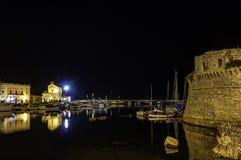 Gallipoli к ноча Стоковое Фото