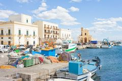Gallipoli, Apulia - Fishing boats at the seaport of Gallipoli Royalty Free Stock Image
