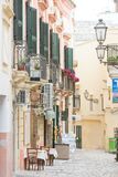 Gallipoli, Apulia - MAY 2017 - Traditional facades in the pedest Stock Photography