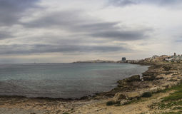 Gallipoli beach;panorama;seascape salento Stock Image