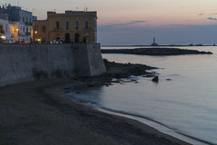 Gallipoli at dusk with artificial lights - Italy. Gallipoli at dusk with artificial lights- Salento - Italy Royalty Free Stock Image