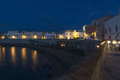 Gallipoli at dusk with artificial lights - Italy. Gallipoli at dusk with artificial lights- Salento - Italy Royalty Free Stock Photos