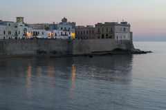 Gallipoli at dusk with artificial lights - Italy. Gallipoli at dusk with artificial lights- Salento - Italy Stock Photos
