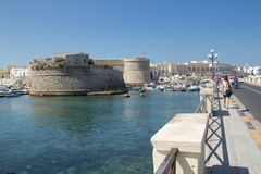 Gallipoli gammal stad royaltyfri fotografi