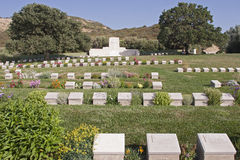 The Gallipoli half island and Anzac Cove in Turkey Stock Photography
