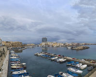 Gallipoli harbor with boats;panorama Royalty Free Stock Photo