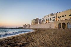 Gallipoli Italië bij de zonsondergang Stock Afbeelding