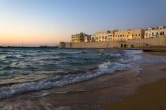 Gallipoli Italië bij de zonsondergang Royalty-vrije Stock Afbeelding