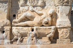 GALLIPOLI, ITALIE - fontaine grecque, 3ème siècle AVANT JÉSUS CHRIST Photo stock