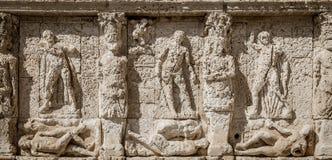 GALLIPOLI, ITALIEN - griechischer Brunnen, 3. Jahrhundert BC stockbilder