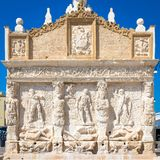 GALLIPOLI, ITALY - Greek fountain, 3rd century BC Royalty Free Stock Photography