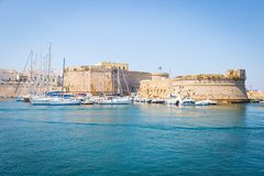 Gallipoli, Italy - historical centre view from the sea Royalty Free Stock Photography
