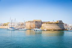Gallipoli, Italy - historical centre view from the sea Stock Photography