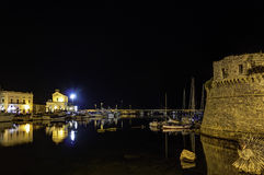 Gallipoli by night. Castle view Stock Photo