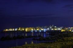 Gallipoli nigth Стоковое Фото