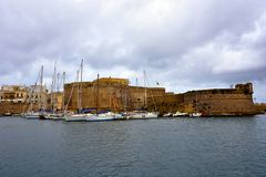 Gallipoli. Puglia. Italy. Panoramic view of Gallipoli. Puglia. Italy stock photo