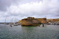 Gallipoli. Puglia. Italy. Panoramic view of Gallipoli. Puglia. Italy stock photos