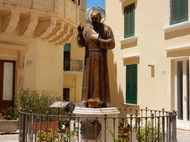 Gallipoli - Statue of Father Pius Royalty Free Stock Image