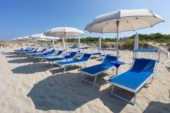 Gallipoli strand, Apulia, Italien Arkivbilder