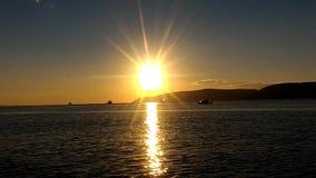 Gallipoli sunset. A calm day and sea in Çanakkale Sarıçay stock video footage