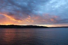 Gallipoli sunsets. Canakkale strait and sunset in Gelibolu sea Stock Photography