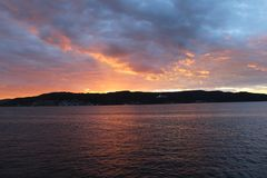 Gallipoli sunsets. Canakkale strait and sunset in Gelibolu sea Royalty Free Stock Images